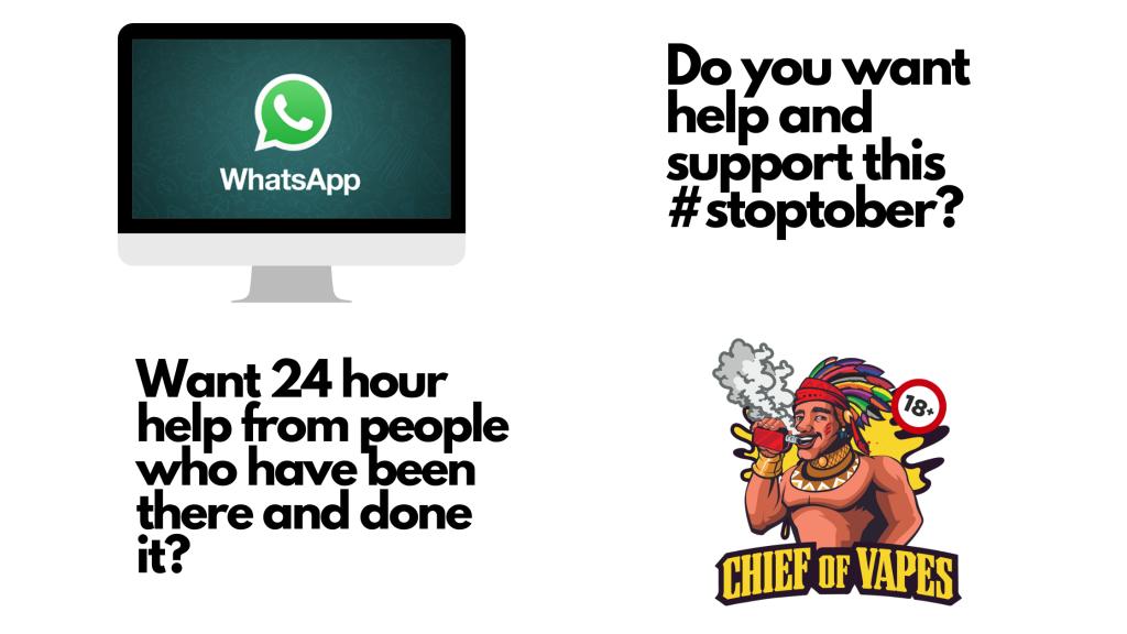 Stoptober 2020 whatsapp support group