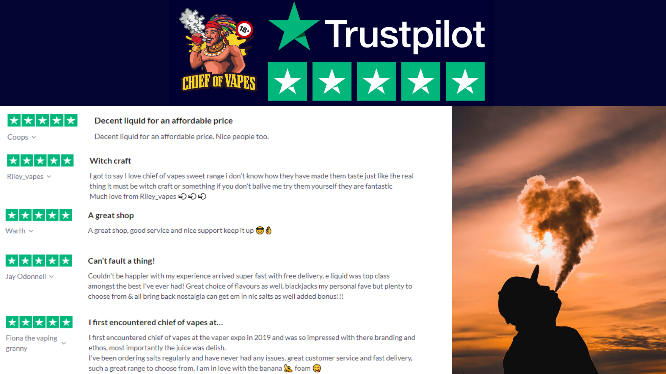 Trustpilot reviews new. Best Vape Shop in the UK