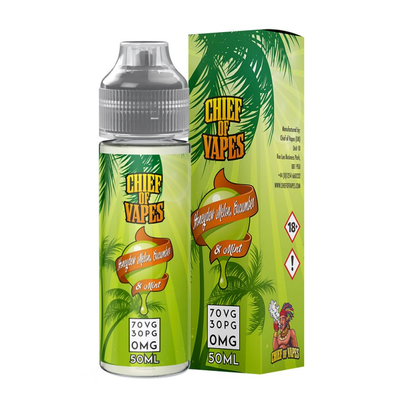 Honeydew Melon Cucumber & Mint E Liquid Vape Juice 50ml Shortfill 70/30 0mg