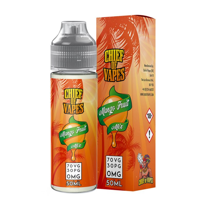 Mango Passion Fruit Mix E Liquid Vape Juice Shortfill 50ml 70/30 0mg
